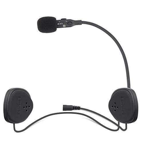 LEXIN B1 Motorradhelm Headset, Motorrad Bluetooth Headset mit Mikrofon, Handfrei Helm HD Lautsprecher Kabellos Handfrei Kristallklar Audio Gerät für Motorräder Outdoor