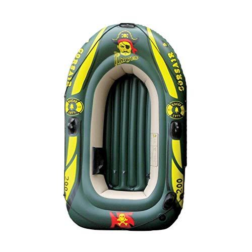 GUOE-YKGM Kayak Aufblasbares Kajak-Set for 2-4 Personen Mit Schlauchboot, Kunststoffrudern Und Handpumpe for Strand, Rafting, Surfangler Und Freizeitsport - Grün (Size : 4-Person - 276 x 138cm)