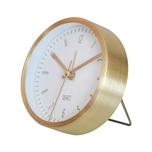 Despertador despertar oro frontera escritorio creativo decoración versátil decoración