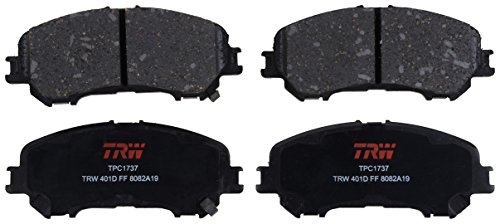 TRW TPC1737 Disc Brake Pad Set for Nissan Rogue: 2014-2019 and other applications Front