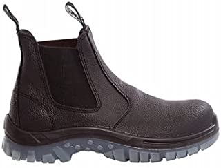 Rugged Safety RMKTRADIE-BBF120 Mack Tradie Men's Pull-On Safety Boots, Leather, Steel Toe, 6