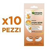 Garnier Skin Active Mascarilla de Tela Contorno de Ojos Anti-Fatiga y Anti-Ojeras con Ácido Hialurónico y Extracto de Naranja
