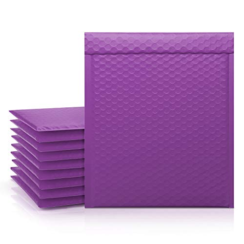 Fuxury 8.5x12 Purple Bubble Mailers, 25 Pcs Padded Envelopes Shipping Bags, Self-Seal Poly Bubble Mailer Packaging Bags, Small Business Packaging Supplies, Bulk #2 Mailers