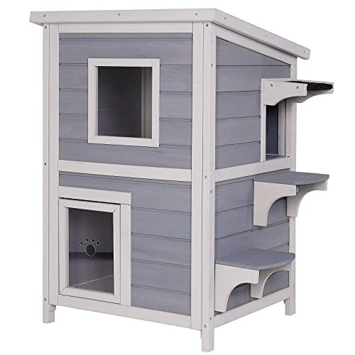 Casa per gatti loggia per gatti nicchia per gatti cuccia per gatti in grigio