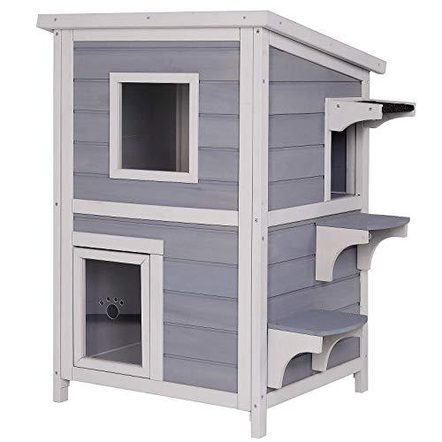 Dibea Casa para Gatos cabaña para Gatos Cueva para Gatos recinto para Gatos Gris