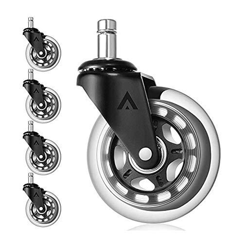 PYouo-roulettes robustes, 5PCES Chaise de bureau de remplacement roulettes, avec tige universelle, robuste Safe 3\