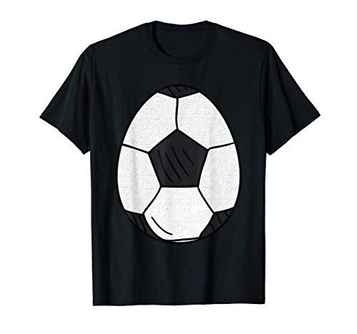 Pallone Da Calcio Felice Uovo Di Pasqua Carino Caccia Amante Maglietta