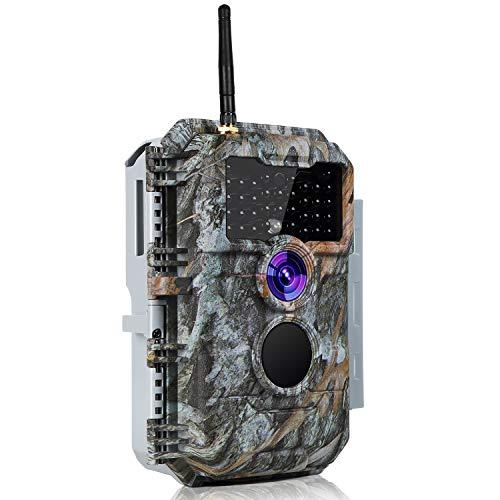 Folgtek WiFi Trail Camera Bluetooth Game Cam App Control Wiildlife Camera 24MP Photo 1296P H.264 Video with 75Ft Night Vision Motion Sensor Game & Deer Cam