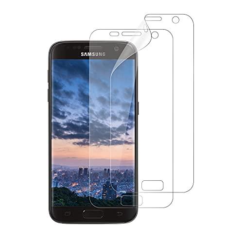 WISMURHI [2 Stück Schutzfolie kompatibel mit Samsung Galaxy S7, HD TPU Displayschutzfolie für Galaxy S7 - [Blasenfreie] [Anti-Öl] [Anti-Kratzer] Klar Folie (Nicht Panzerglas)