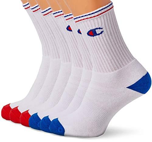Champion Performance Crew, Chaussettes de Sport Homme, Multicolore (Blanc Logo Colore 8lv), 43/46 (Taille Fabricant: 43/46) (lot de 6)