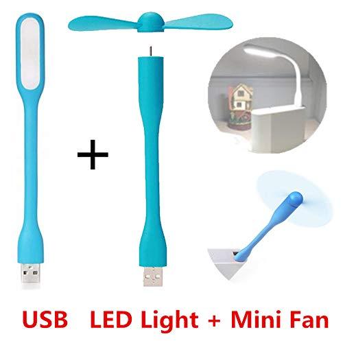 Boek Licht Creatieve USB Fan Flexibele Draagbare Mini Fan en USB Led Lamp Xiaomi Boek voor Power Bank Notebook Computer Zomer Gadget
