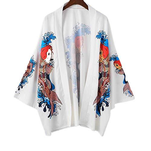 Herren Japanese Kimono Leichte Atmungsaktive Freizeit Anime Digitaldruck Strickjacke Yukata Mantel Top Muster Arm Cover up Leichte Jacke Geeignet Freizeit Unterhaltung Entspannung andere Umgebungen