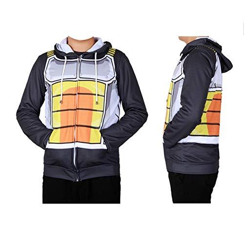 BCOGG Trockene kleidung Dragon Ball Z Goku Vegeta Cosplay Bodybuilding Dünne Kleidung Enge Sportbekleidung Fleece XXL Erwachsene