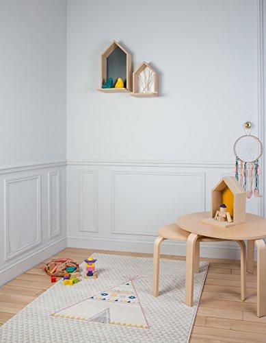 Arte per Bambini cameretta Tepee Tappeto, Multicolore, 135x 190cm