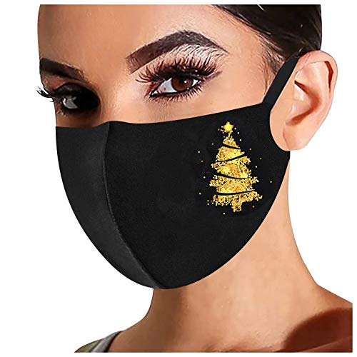 YUYOUG asque 2021 Femme Homme Flash Estampage à Chaud Noir Anti-poussières Protection Reutilisables Lavables Tissu Écharpe pour Unisex Adulte Adolescents