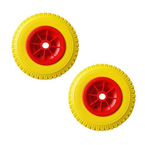 lahomia 1 Par de Neumáticos Antiperforación de 8 Pulgadas en La Rueda Roja para