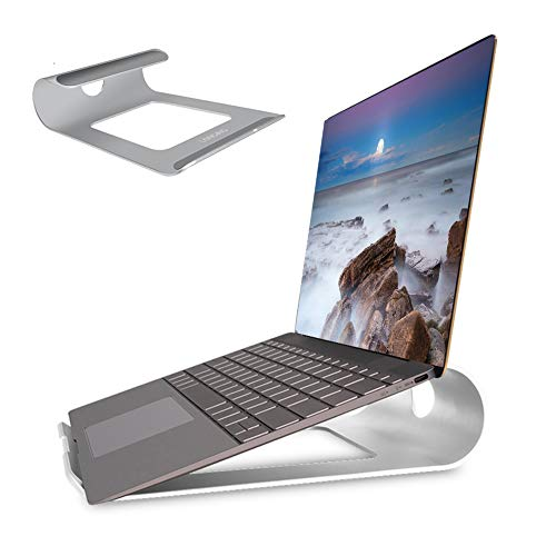 LONGING Soporte ergonómico para ordenador portátil, soporte universal de PC, soporte elevador para Lenovo, Dell, HP, Samsung todos los portátiles de 10 a 15 pulgadas, para MacBook Air/Pro-Silber