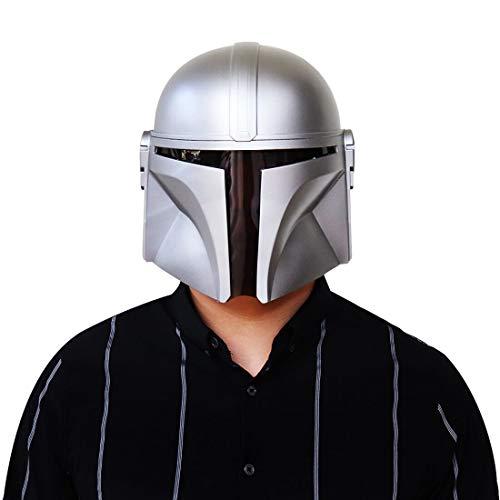 Hpparty Casco Mandalorian Star Wars Cosplay moldeado por inyección, máscara de PVC