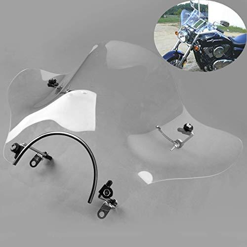 "7/8"" Clear Windshield For Honda Shadow Spirit Aero Rebel Deluxe VLX VTX Cruisers"