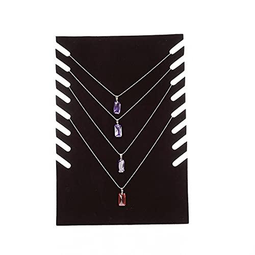 MVPACKEEY Soporte del tenedor de exhibición de la pulsera de la cadena del collar, cadena independiente del estante de la joyería del tablero