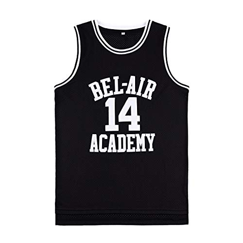 OKnown Mens Jerseys #14 Basketball Jersey Black-L