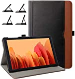 ZoneFoker Samsung Galaxy Tab A7 10.4 2020 Case, Business Leather Cover, Multi-Angle Viewing Folio Stand Case with Pencil Holder/Pocket for Galaxy Tab A 7 10.4 SM-T500/T505/T507 (Black/Brown)
