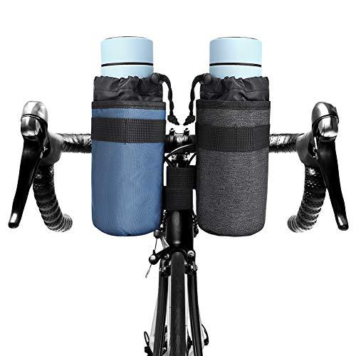 Brynnl 2 soportes para botellas de agua, para bicicleta, barco, motocicleta, coche, silla de ruedas, carrito de golf, bicicleta, soporte para bebidas (negro + azul)