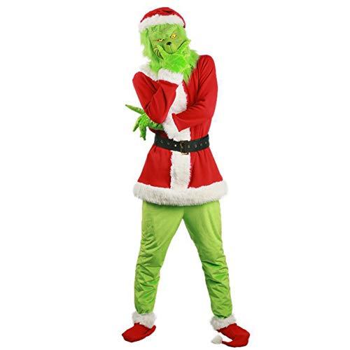 COSPLAYY Disfraz Navidad Fiesta Halloween Disfraz Divertido/Monstruo Verde Ropa Grinch Green-XXL