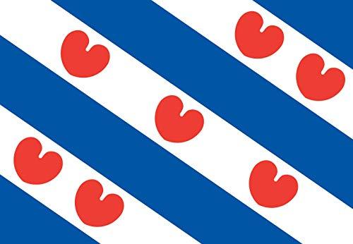 Unbekannt magFlags Tisch-Fahne/Tisch-Flagge: Friesland 15x25cm inkl. Tisch-Ständer