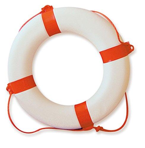 Navyline Rettungsring mit Griffleine klassisch rot/weiß 61x30cm