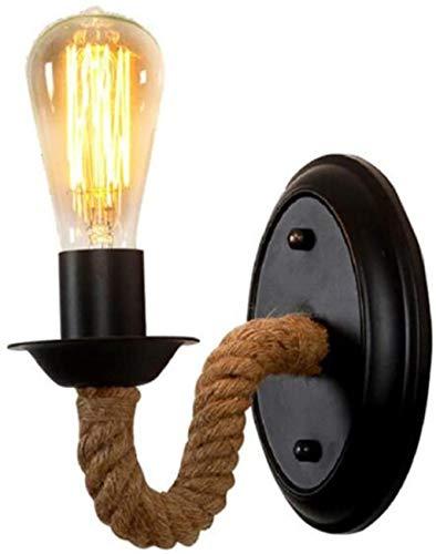 Lampe Murale Lampe Vintage Fer Forgé Ficelle Applique Chambre Chevet Salon Couloir Chambre Aisle Décoration E27 220 V (sans Source de lumière)