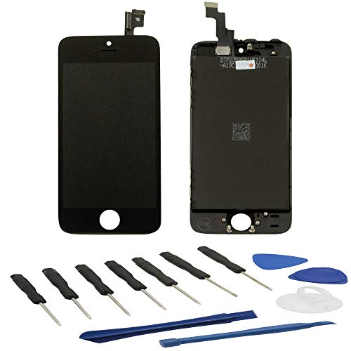 BEST SHOPPER AAA Quality LCD Screen and Digitizer Replacement Assembly + Frame Compatible with Apple iPhone 5S / SE - Black