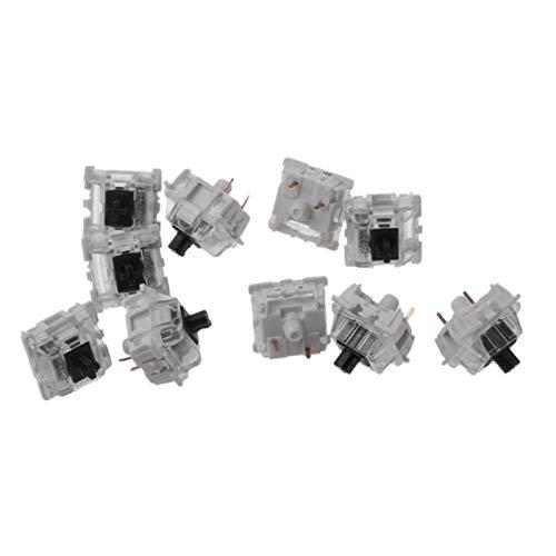 YXZQ Tecla 10pcs abrelatas Negras Teclado mecánico 3pin MX fit gh60 t5ea Reemplazo de Teclado (Color : 88)