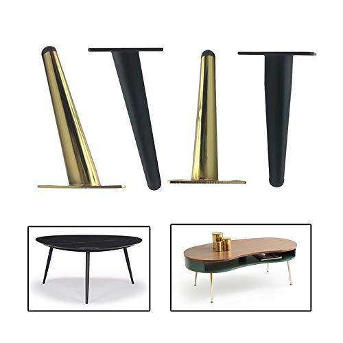 Gnova 4 Stück Schrankbeine,Regal Füße,Gold Tischbeine, Möbelfüße Eisen, Sofa füße konisch, Titanlegierung, Keine Verformung, kein Ausbleichen