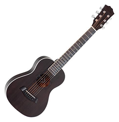Rocktile G-10 BK Guitarlele Schwarz - Westerngitarre im Reiseformat - Decke: Zeder - Boden & Zargen: Mahagoni - Hals: Okoume - Mensur: 51 cm - Offenporiges Finish in Schwarz