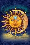 Sun Moon Star Astrology by Vincent HIE Spiritual Cool Wall Decor Art Print Poster 24x36