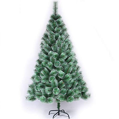 Árbol de Navidad de mano de obra exquisita, agre kerstboom voor kerstdecoratie, dennen-naald-kerstboom met White Pine Needles hoogwaardige kunstmatige installatie kerstboom, 120 cm, 150 c