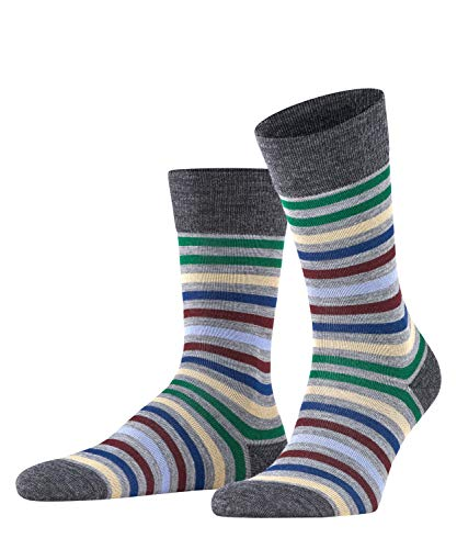 FALKE Herren Tinted Stripe M SO Socken, Grau (Mid Grey Melange 3530), 39-42 (UK 5.5-8 Ι US 6.5-9)