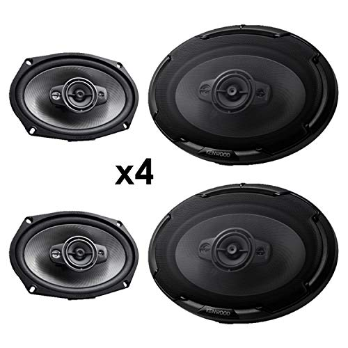4 New Kenwood KFC-D691 6x9 1300 Watt 4-Way Car Audio Coaxial Speakers Stereo