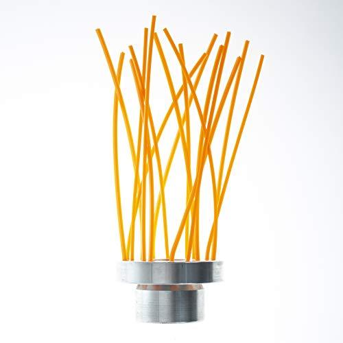 Bazargiusto SPAL 16 - Cabezal cepillo para desbrozadora de 16 hilos, para limpieza de suelos y cuerpos