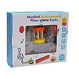 5 Unids Bebé Sonajero Cascabel Sonajero Castañuelas Juguete Musical de Desarrollo para Bebé Niños Niños