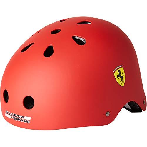 Unbekannt WenX Ferrari Kinder Balance Helm, männlicher Baby Helm, Kleinkind Eislaufen, Fahrradhelm 2-14 Jahre alt (Rot)