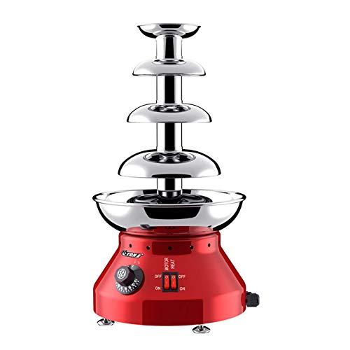 GuoEY Fuente de Chocolate de 4 Niveles, Capacidad de Chocolate de 1800 ml, máquina de fusión en Cascada Profesional, para cumpleaños Comercial y doméstico, Navidad