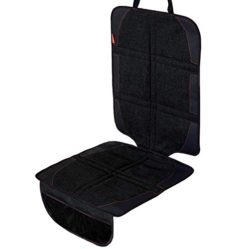 DaoRier Housse de protection avec compartiments de rangement pour dossier de voiture noir