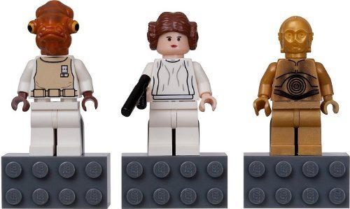 LEGO Star Wars Magnet C-3PO, Prinzessin Leia und Admiral Ackbar 852843 (Japan-Import)