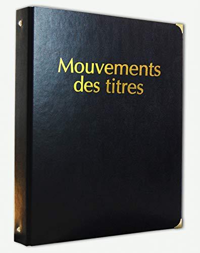 Registre Classeur Mouvements des Titres simili cuir avec Recharge 50 feuillets - 1