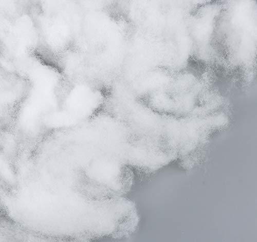 Ouate de Rembourrage, Fibre Polyester 100g Mousse de Rembourrage Très Moelleuse - Fibre Synthétique Lavable pour Garnissage de Coussins, Ouate de Rembourrage Peluche Jouets, Peluches
