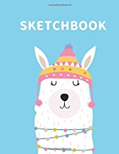 Sketchbook: A Cute llama Kawaii Sketchbook for Kids: 100 Pages of 8.5