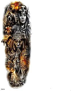 Pirámide Brazo completo Tatuajes temporales a prueba de agua Hombres Kit de cultura maya Tatuaje Mangas de brazo Pegatinas temporales de tatuaje Tatoo falso Hombres