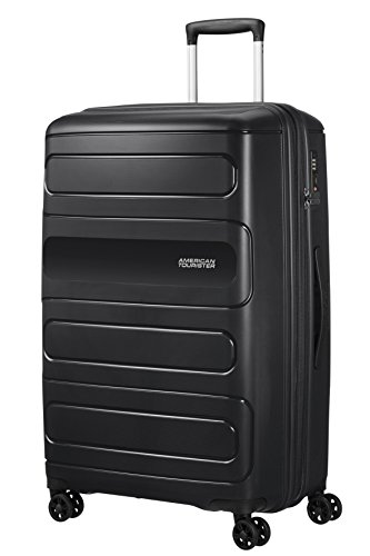 American Tourister Sunside Spinner 77 Expandable, 4.5 KG, 106/118L, Black